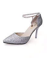cheap -Women's Shoes Paillette Spring / Fall Comfort / Basic Pump Heels Stiletto Heel Gold / Black / Silver