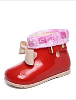 cheap -Girls' Shoes PVC Leather Winter Rain Boots Boots for Black / Red / Pink