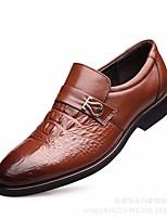 Недорогие -Муж. обувь Кожа Осень Удобная обувь Мокасины и Свитер Черный / Темно-русый / Темно-коричневый