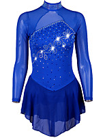 cheap -Figure Skating Dress Women's Ice Skating Dress Royal Blue strenchy Performance / Practise Skating Wear Quick Dry, Anatomic Design Classic