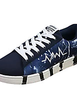 cheap -Men's Shoes PU Fall Comfort Sneakers Black / Brown / Blue
