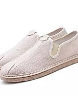 preiswerte -Herrn Schuhe Stoff Frühling Sommer Komfort Loafers & Slip-Ons für Draussen Weiß Schwarz Rot