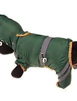 cheap -Dogs / Cats / Pets Coat / Rain Coat / Waterproof Dog Clothes Solid Colored / Simple Yellow / Red / Dark Green Acrylic Fibers Costume For