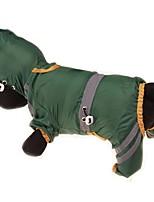 baratos -Cachorros / Gatos / Animais de Estimação Casacos / Capa de Chuva / Á Prova d'água Roupas para Cães Sólido / Simples Amarelo / Vermelho /