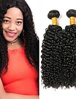 Недорогие -Перуанские волосы Кудрявый Человека ткет Волосы / Накладки из натуральных волос Ткет человеческих волос Удлинитель / Горячая распродажа