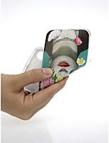 abordables -Funda Para Apple iPhone X / iPhone 7 Ultrafina / Diseños / Encantador Funda Trasera Chica Sexy / Flor Suave TPU para iPhone X / iPhone 8