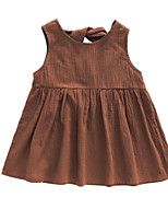 cheap -Kids / Toddler Girls' Solid Colored Sleeveless Dress