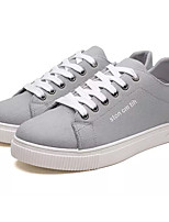 cheap -Men's Shoes Canvas / Fabric Fall Comfort Sneakers White / Black / Gray