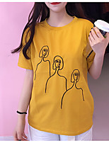 cheap -Women's Cotton T-shirt - Solid Colored / Portrait