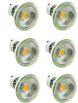 economico -6pcs 7W 500lm GU10 / MR16 Faretti LED 1 Perline LED COB Oscurabile / Decorativo Bianco caldo / Luce fredda 220-240V