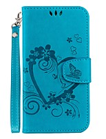 cheap -Case For Huawei P20 lite / P20 Card Holder / with Stand / Flip Full Body Cases Heart Hard PU Leather for Huawei P20 lite / Huawei P20