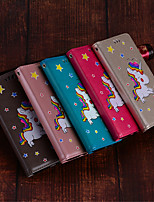 cheap -Case For Huawei P20 lite / P20 Card Holder / with Stand / Flip Full Body Cases Unicorn Hard PU Leather for Huawei P20 lite / Huawei P20