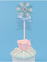cheap -Cake Topper Fairytale Theme / Romance / Snowflake Snowflake Paper Wedding / Birthday with Ribbons / Flower 10pcs OPP