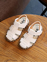 cheap -Girls' Shoes Leatherette Summer First Walkers Sandals for Outdoor White Black Light Brown