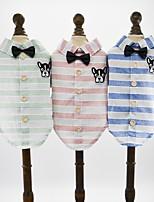abordables -Chiens Chats Animaux de Compagnie Tee-shirt Vêtements pour Chien Avec motifs Bande dessinée Animal Vert Bleu Rose Coton / Polyester