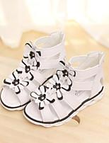 Недорогие -Девочки Обувь Полиуретан Лето Удобная обувь Сандалии для Белый / Пурпурный / Розовый