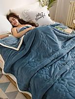 baratos -Velocino de Coral, Gravado Floral Poliéster cobertores