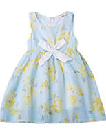 cheap -Kids Girls' Solid Colored / Jacquard Sleeveless Dress