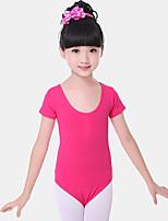 abordables -Danse classique justaucorps Fille Entraînement / Utilisation Coton Ruché Manches Courtes Taille moyenne Collant / Combinaison