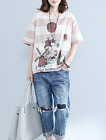 cheap -Women's Cotton T-shirt - Striped