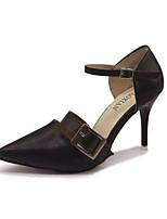 abordables -Femme Chaussures Polyuréthane Eté Confort Chaussures à Talons Talon Aiguille Noir / Beige / Brun Foncé