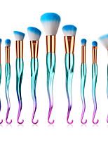 cheap -10-Pack Makeup Brushes Professional Makeup Brush Set Nylon fiber Eco-friendly / Soft Plastic
