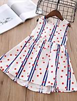 cheap -Kids Girls' Polka Dot / Striped Sleeveless Dress