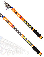 cheap -Tele Pole / Fishing Rod Tele Pole Aluminium alloy Sea Fishing Rod Retractable Cable / Easy to Carry / Light and Convenient