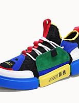 Недорогие -Жен. Обувь Тюль Лето Удобная обувь / Оригинальная обувь Кеды На плоской подошве Круглый носок Белый / Зеленый и синий