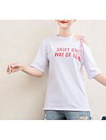 cheap -Women's Basic T-shirt - Letter
