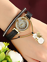 cheap -Women's Quartz Wrist Watch Chinese Casual Watch Leather Band Charm Fashion Black Pink