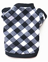 cheap -Dogs / Cats / Pets Sweatshirt / Winter Clothing Dog Clothes Plaid / Check / Cartoon Cotton Costume For Pets Male Casual / Daily / Keep
