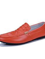 Недорогие -Муж. обувь Искусственное волокно Осень Мокасины Мокасины и Свитер Белый / Черный / Оранжевый