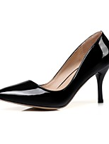 abordables -Femme Chaussures Faux Cuir / Cuir Verni Printemps été Escarpin Basique Chaussures à Talons Marche Talon Aiguille Bout pointu Rouge / Rose