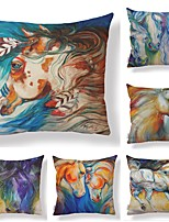 economico -6 pezzi Tessuto / Cotone / Lino Federa, Artistico / Animali / Stampe Animali / Quadrata