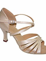 cheap -Women's Latin Shoes Silk Heel Performance / Practice Stiletto Heel Dance Shoes Beige