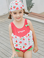 cheap -SABOLAY Girls' Dive Skin Suit Detachable Cap, Comfortable Polyester / Spandex / Chinlon Sleeveless Swimwear Beach Wear Swimwear Swimming / Outdoor Exercise / Watersports