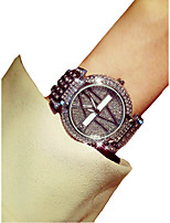 cheap -Women's Quartz Wrist Watch Japanese Chronograph / Imitation Diamond / Luminous Alloy Band Luxury / Elegant Silver / Gold