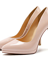 cheap -Women's Shoes Patent Leather Spring & Summer Basic Pump Heels Stiletto Heel Pointed Toe Brown / Red / Nude / Party & Evening
