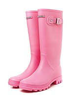 cheap -Women's Shoes PVC(Polyvinyl chloride) Spring & Summer Rain Boots Boots Low Heel Mid-Calf Boots Black / Army Green / Pink