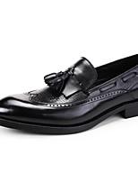 Недорогие -Муж. обувь Наппа Leather / Кожа Весна Удобная обувь Мокасины и Свитер Черный / Коричневый