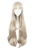 cheap -Synthetic Wig Curly Layered Haircut Synthetic Hair Cosplay Brown Wig Women's Long Capless / Yes