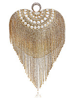 cheap -Women's Bags Pearl / Rhinestones Evening Bag Pearls / Tassel for Wedding / Event / Party Gold / Black / Silver