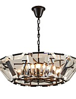 cheap -QIHengZhaoMing 6-Light Crystal Chandelier Ambient Light - Crystal, 110-120V / 220-240V, Warm White, Bulb Included / 15-20㎡