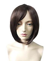 cheap -Synthetic Wig Straight Bob Haircut / Short Bob Synthetic Hair Fashionable Design / Heat Resistant / Party Dark Brown Wig Women's Short