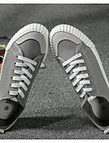 Недорогие -Универсальные Обувь Полотно Лето Удобная обувь Кеды Для прогулок На плоской подошве Круглый носок Черный / Серый / Хаки