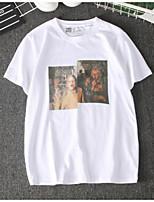 abordables -Tee-shirt Femme, Portrait Imprimé Rétro