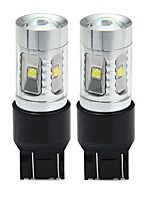cheap -SENCART T20(7440,7443) Car / Motorcycle Light Bulbs 30W SMD LED 1800-2100lm 6 LED Turn Signal Light For universal All years