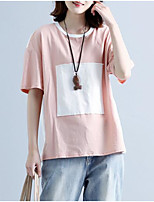 economico -t-shirt da donna - girocollo color block