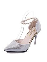 abordables -Femme Chaussures Polyuréthane Eté Escarpin Basique Chaussures à Talons Talon Aiguille Or / Argent / Gris foncé